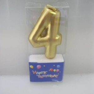 Nr 4 gold toothpick candle