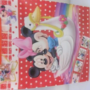 Mickey and minnie gift bag red