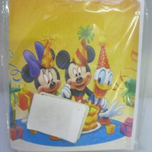 Mickey and friends invitations yellow 10 per pack