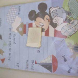 Mickey mouse nautical invitation sheet