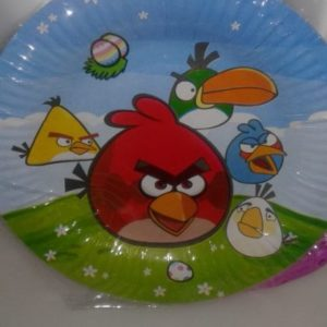 Angry birds paper plates small 10 per pack
