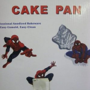 Spiderman 2d cake tin metal