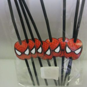 Spiderman straws 8 per pack
