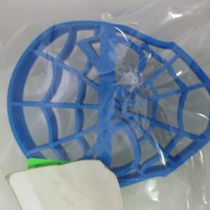 Spiderman face cookie cutter plastic