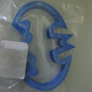 Batman logo cookie cutter plastic 9x4cm