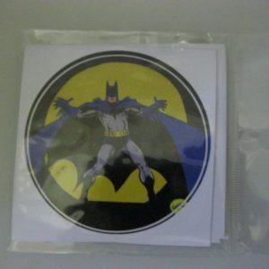 Batman stickers round 10 per pack 7cm diameter