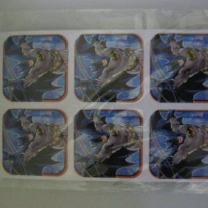 Batman stickers 4x4cm 24 per pack