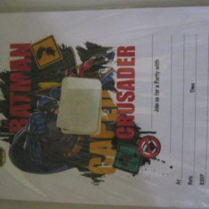 Batman crusader invitation sheets 30 per pack