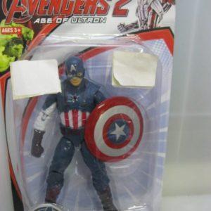 Captain america figurine in box with shield 19cm