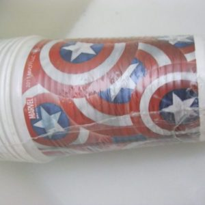 Captain America cups plastic 10 per pack