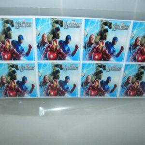 Avengers stickers 4x4cm 24's