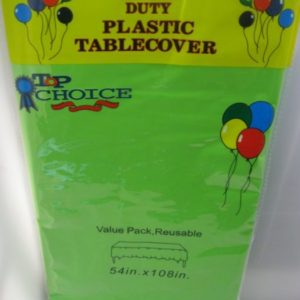 Lime green plastic table cover 54x108inch