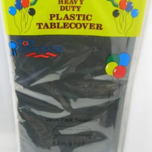 Black plastic table cover 54x108inch