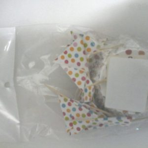 Polka dot cup cake papers and flag picks 24's