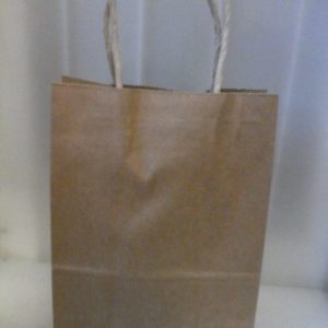 Brown paper bags with handle 6 per pack