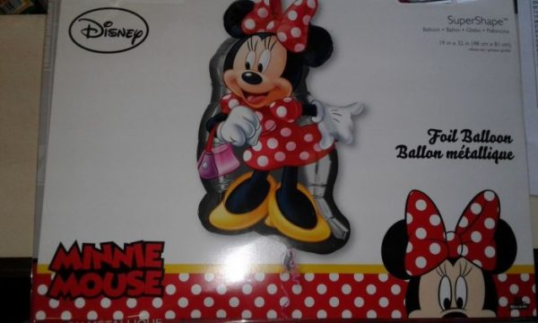 Red minnie mouse shaped foil balloon 48x81cm
