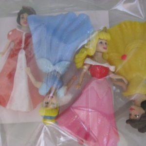 Disney princess plastic figurine set 4 piece