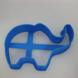 Elephant plastic cookie cutter 8x4.5cm