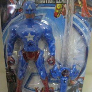 Captain America plastic figurine 17cm with sword