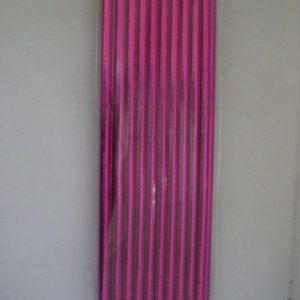 Metallic cerise pink paper straws 20 per pack