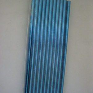 Metallic blue paper straws 20 per pack