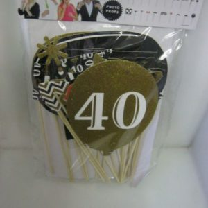 40th Birthday photo prop set