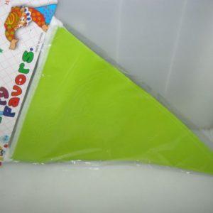 Lime green flag banner paper 2m