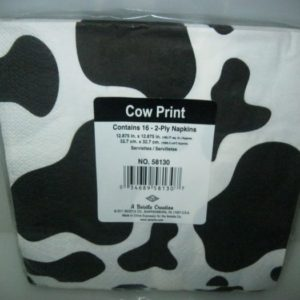 Cow spot serviettes 2 -ply 16 per pack
