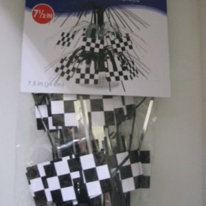 Black and white check f1 table center piece