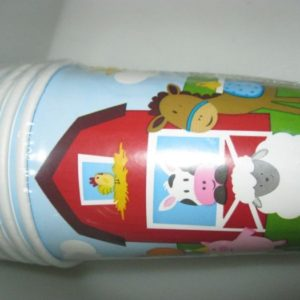 Farm fun red party cups 8 per pack