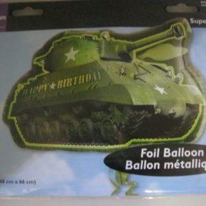 Army tank camo foil balloon shaped 48x66cm