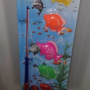 Fishing rod & plastic fish set