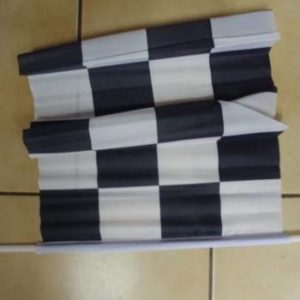 Black and white check flag material 30x45cm