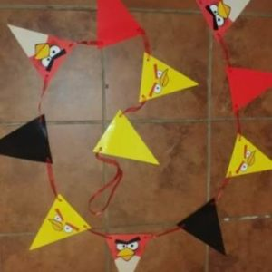 Angry birds flag banner paper 3m