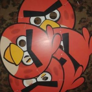 Angry birds masks 5 per pack