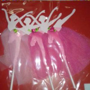 Ballerina cake picks 4 per pack