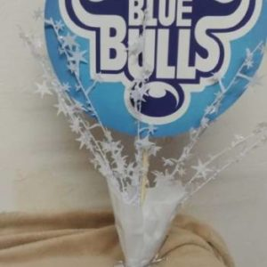 Blue bulls center piece 39 cm tall