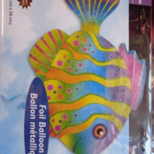 Tropical fish foil balloon super shape, holographic.
