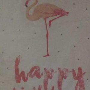 Flamingo A3 wall poster