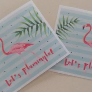 Flamingo stickers large