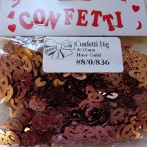 50th confetti rose gold