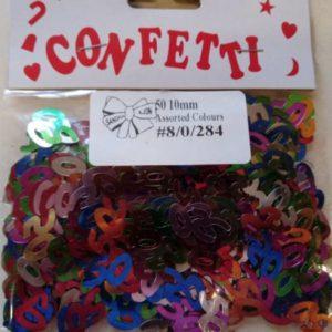 50th confetti rainbow mix