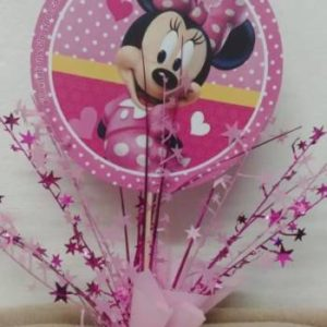Minnie mouse pink table center piece 39 cm