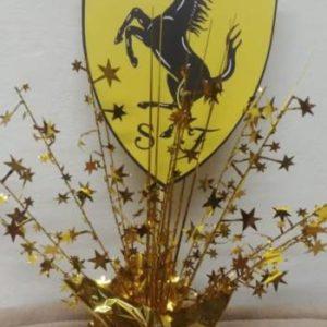 Ferrari table center piece gold base