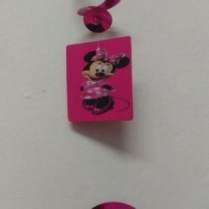 Minnie mouse pink hanging decor twirls