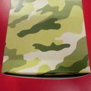 Camo party box square, green