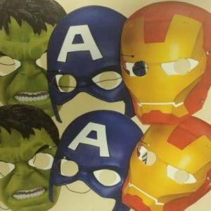 Avengers masks 6 per pack.