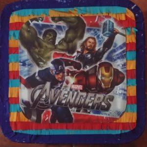 Avengers square shape pinata.
