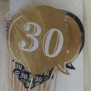 30th photo prop set