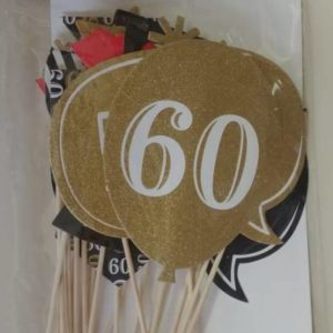 60th photo prop set
